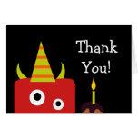 Cute Little Monster Thank You Card