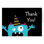 Cute Little Monster Thank You Cards