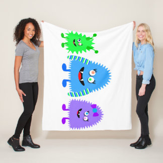Cute Little Monsters Fleece Blanket