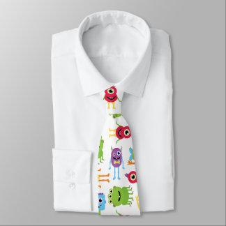 Cute Little Monsters Pattern Tie