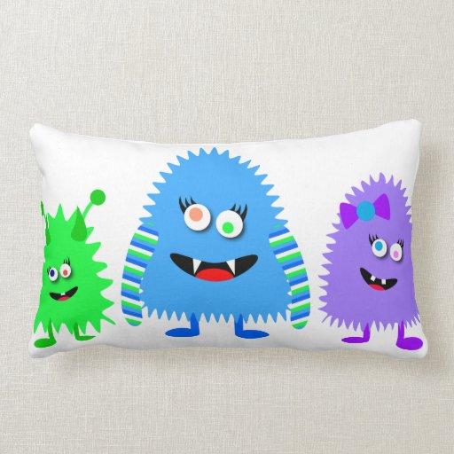 Cute Monster Pillow : Cute Little Monsters Pillow Zazzle
