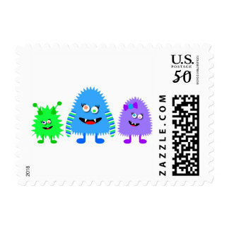 Cute Little Monsters Postage