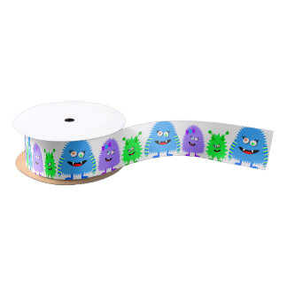 Cute Little Monsters Satin Ribbon