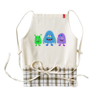 Cute Little Monsters Zazzle HEART Apron