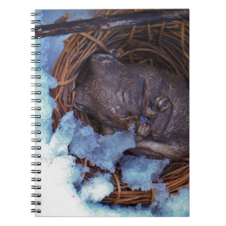 cute little mouse in the snow spiral notebook