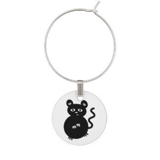 Cute Little Mouse Wine Glass Charms