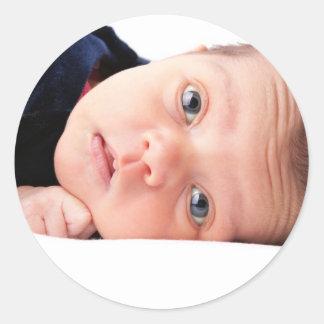 Cute Little Newborn Infant Round Sticker