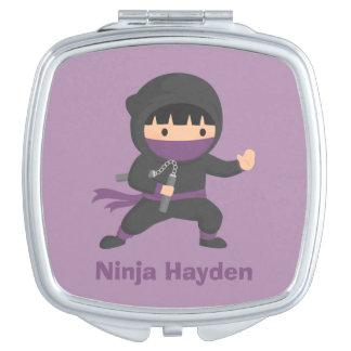 Cute Little Ninja with Nunchaku For Boys Compact Mirror