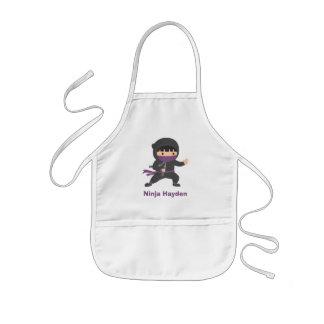 Cute Little Ninja with Nunchaku For Boys Kids' Apron