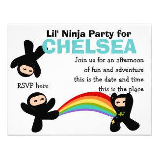 Cute Little Ninjas Invite