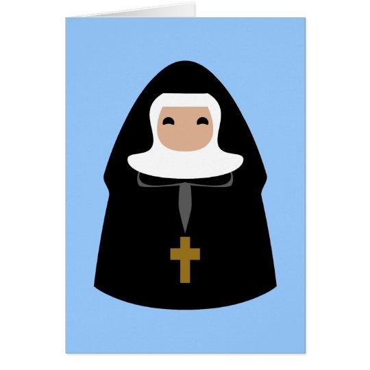 Cute Little Nuns Card