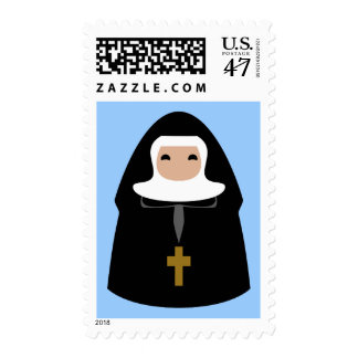 Cute Little Nuns Postage Stamp