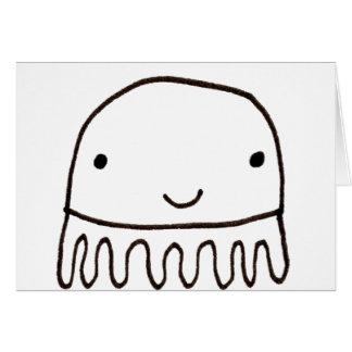 Cute Little Octopus Squid Thing Card