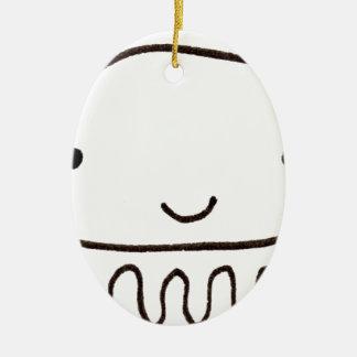 Cute Little Octopus Squid Thing Ceramic Ornament