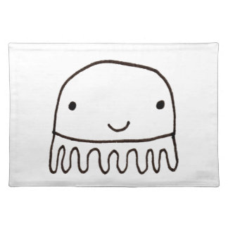 Cute Little Octopus Squid Thing Cloth Placemat