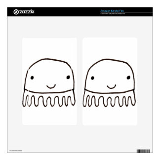 Cute Little Octopus Squid Thing Kindle Fire Decal