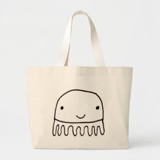 Cute Little Octopus Squid Thing Large Tote Bag