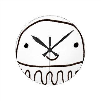 Cute Little Octopus Squid Thing Round Clock