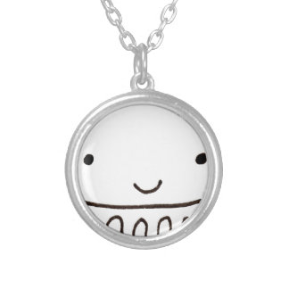 Cute Little Octopus Squid Thing Round Pendant Necklace