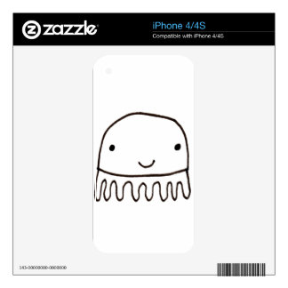 Cute Little Octopus Squid Thing Skin For iPhone 4S