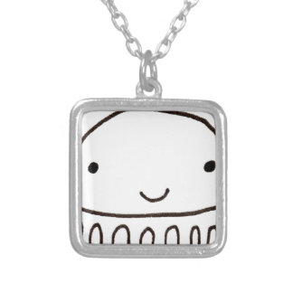 Cute Little Octopus Squid Thing Square Pendant Necklace