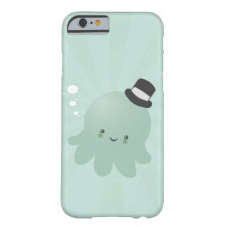 Cute Little Octopus wearing a black Top Hat Barely There iPhone 6 Case