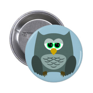 Cute little owl button