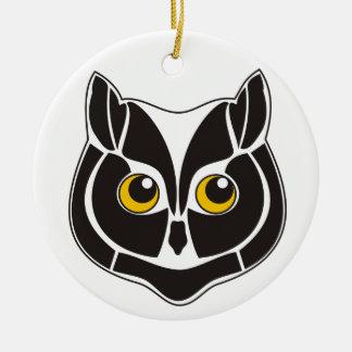 Cute little owl ceramic ornament