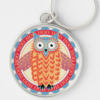 Cute Little Owl Colorful Bird Watcher's Funny Key Chains