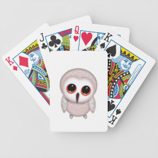 Cute Little Owl Illustration Bicycle Playing Cards