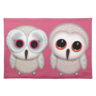 Cute Little Owl Illustration Placemat