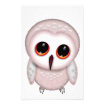 Cute Little Owl Illustration Stationery