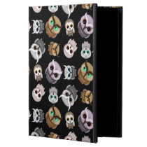 Cute Little Owl Illustrations over Black Backgroun iPad Air Cover