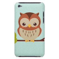 Cute Little Owl iPod Case-Mate Case