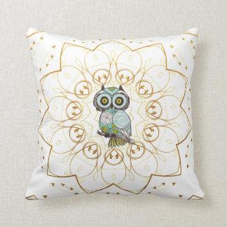 Cute Little Owl Throw Pillows