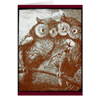 Cute Little Owls Card