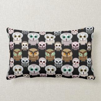 Cute Little Owls Illustrated Art Pattern Pillows