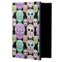 Cute Little Owls in Pastel Colors iPad Air Cases