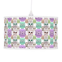 Cute Little Owls in Pastel Colors Pendant Lamp