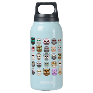 Cute Little Owls 10 Oz Insulated SIGG Thermos Water Bottle