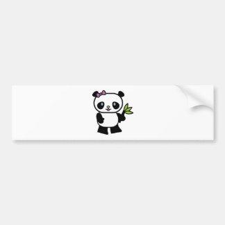 cute little panda bear bumper sticker