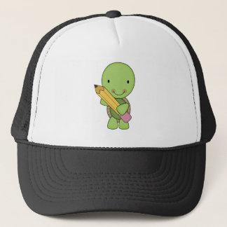 cute little pencil turtle trucker hat