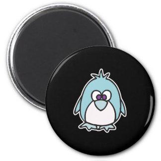 cute little penguin 2 inch round magnet