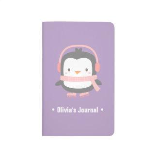 Cute Little Penguin Christmas For Girls Journal