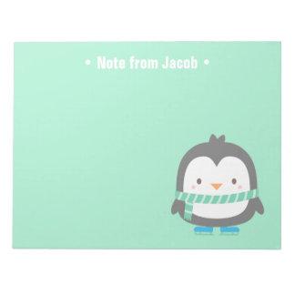 Cute Little Penguin Christmas For Kids Notepad