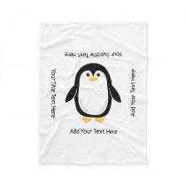 Cute Little Penguin Fleece Blanket