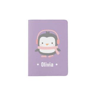 Cute Little Penguin Girls Passport Cover Passport Holder