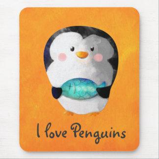 Cute Little Penguin Mouse Pad