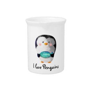 Cute Little Penguin Pitcher