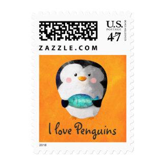 Cute Little Penguin Postage